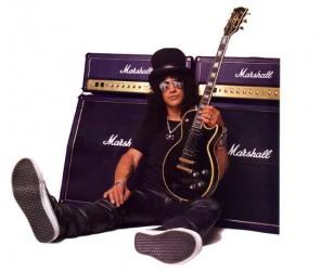 Slash mit seinem Marshall Amp